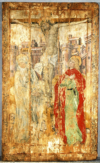 Tavole di Vezzolano la Crocifissione